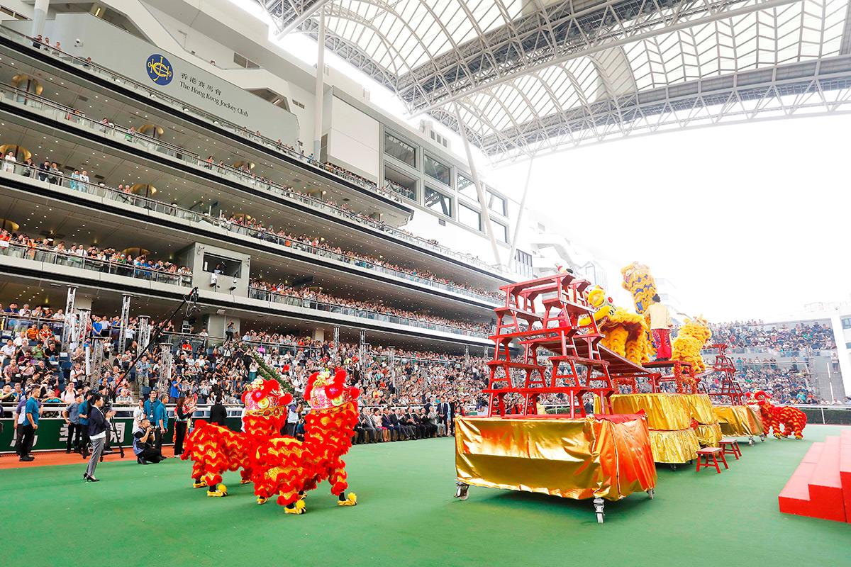繽紛多彩的醒獅匯演為開鑼儀式添上熱鬧氣氛。