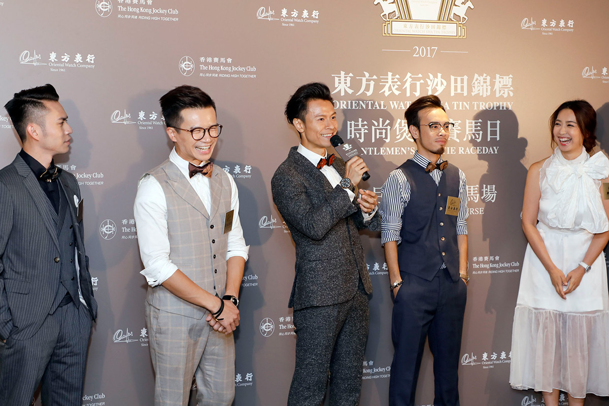 男子組合C AllStar及著名藝人朱千雪小姐出席今日記者會,並分享衣著心得。