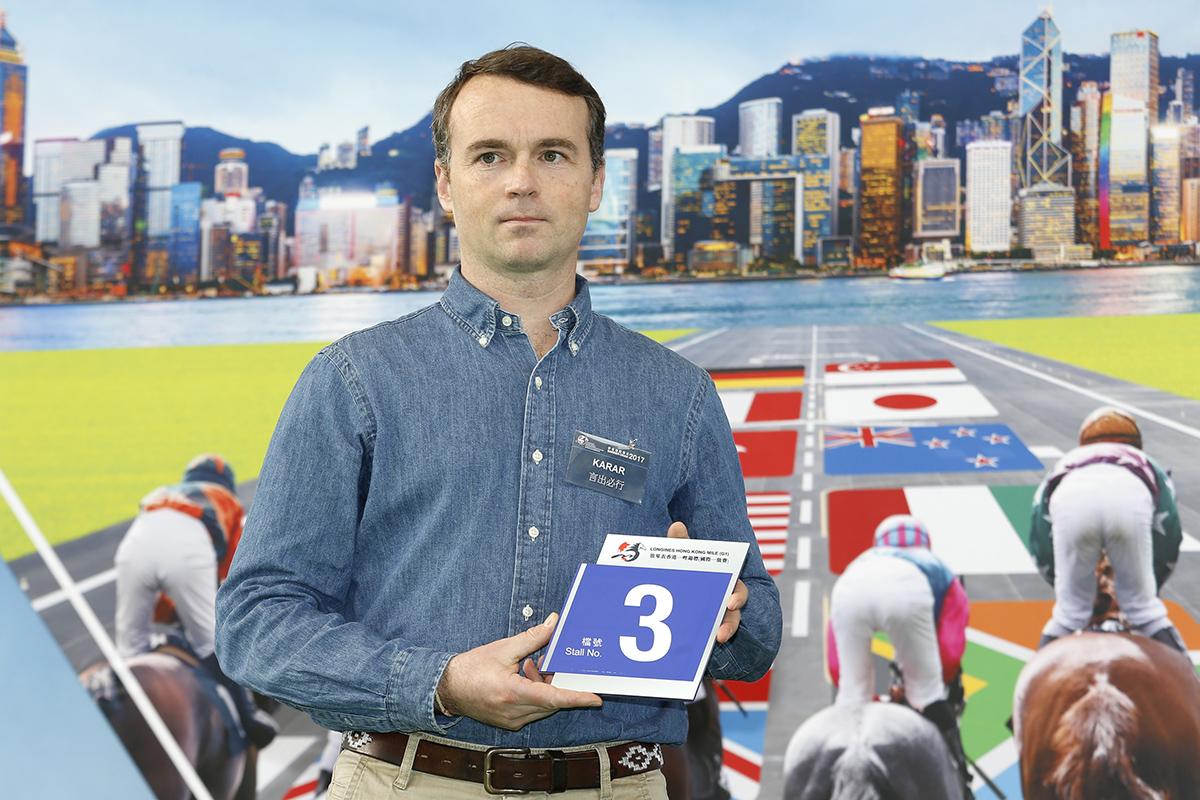 浪琴表香港一哩錦標 – 練馬師葛威法為法國代表「言出必行」抽得第3檔。