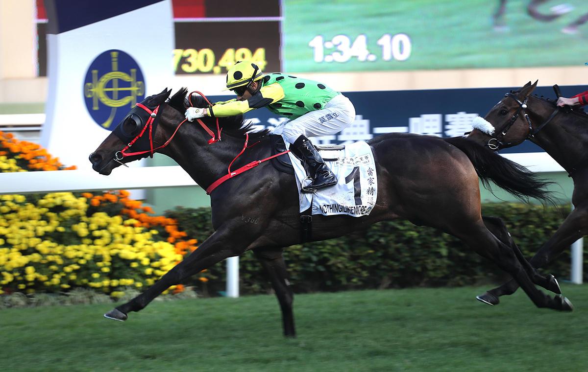 「當家精選」的評分屬今年寶馬香港打吡大賽參賽馬匹之冠。