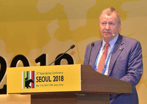 第37屆亞洲賽馬會議開幕     馬會行政總裁會上提倡發展賽馬世界「主要品牌」