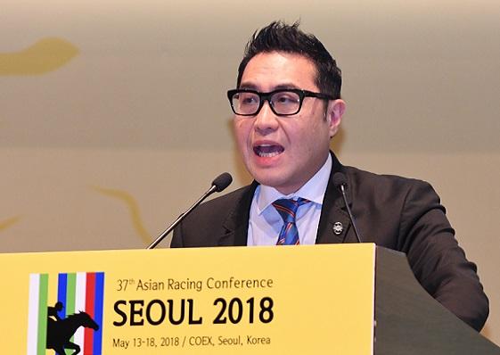 馬會代表在第37屆亞洲賽馬會議介紹香港博彩業務策略