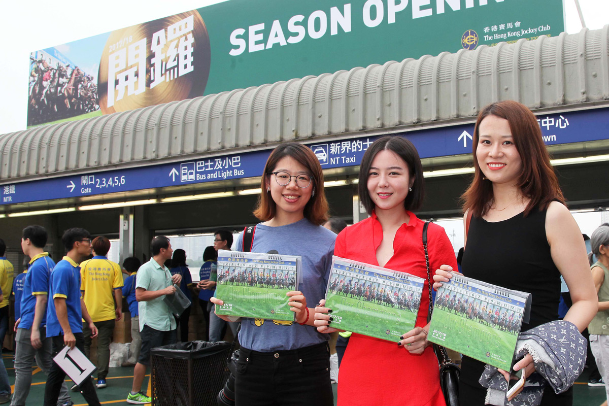 Fans coming to the Season Opening each receives a complementary 2017/18 Racing Calendar to usher in the new season.