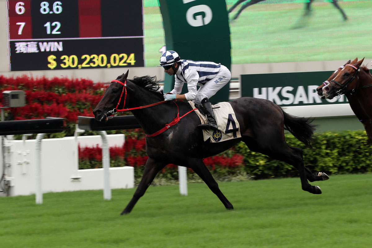Seasons Bloom wins the first Class 1 of the new Hong Kong season, the HKSAR Chief Executive's Cup, for jockey Joao Moreira and trainer Danny Shum.