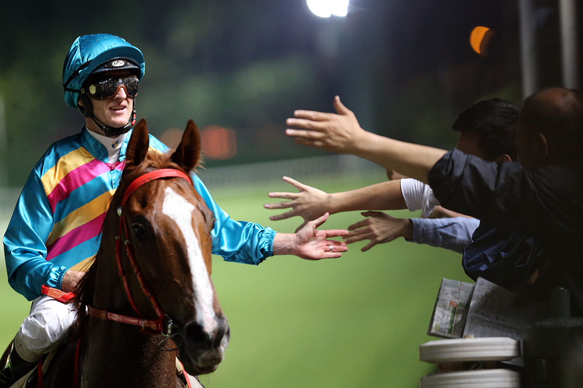 Zac Purton enjoys a four-timer thanks to Super Hoppy in the finale.