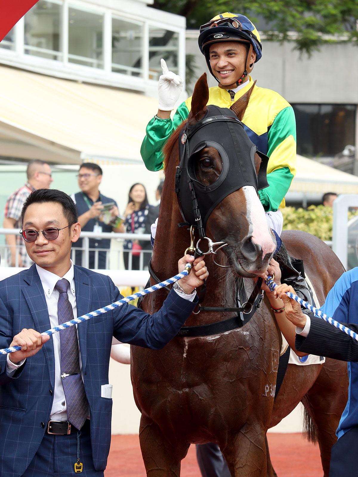 Trainer Jimmy Ting and jockey Grant van Niekerk each celebrate a debut Hong Kong win in the opener.