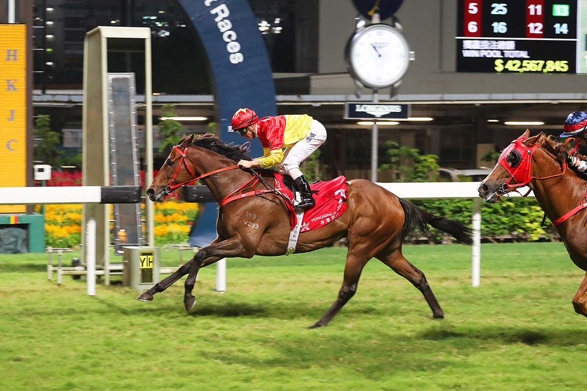Starlight completes a hat-trick of wins last term with Zac Purton on board.