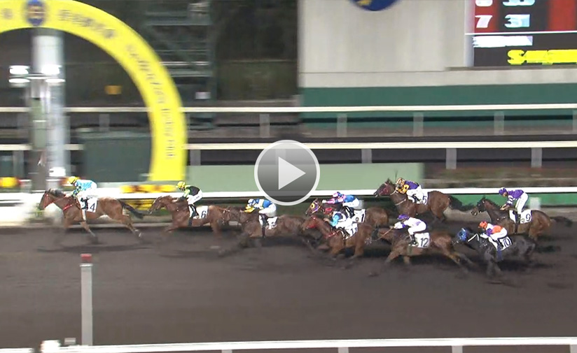 Pick Number One gets the better of Ugly Warrior in a Class 3 event last February.