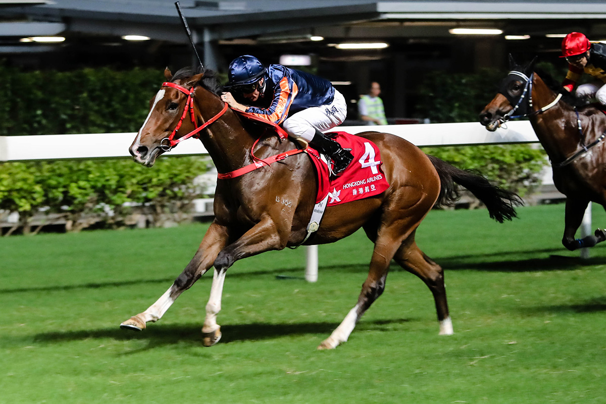Red Warrior takes the Hong Kong Country Club Challenge Cup under Zac Purton.