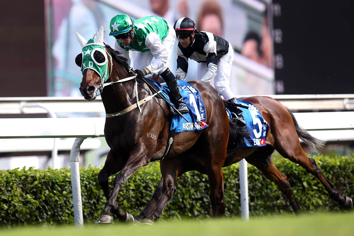 Pakistan Star lands the Standard Chartered Champions & Chater Cup in style last start.