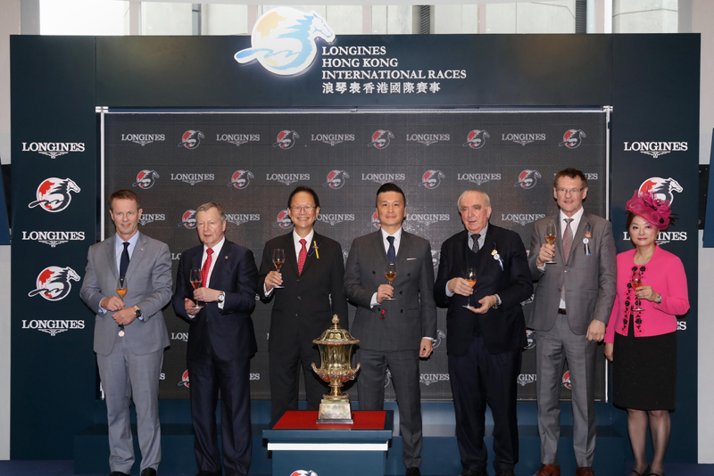 A toasting ceremony was held at Jockey Club Box after the LONGINES Hong Kong Sprint.