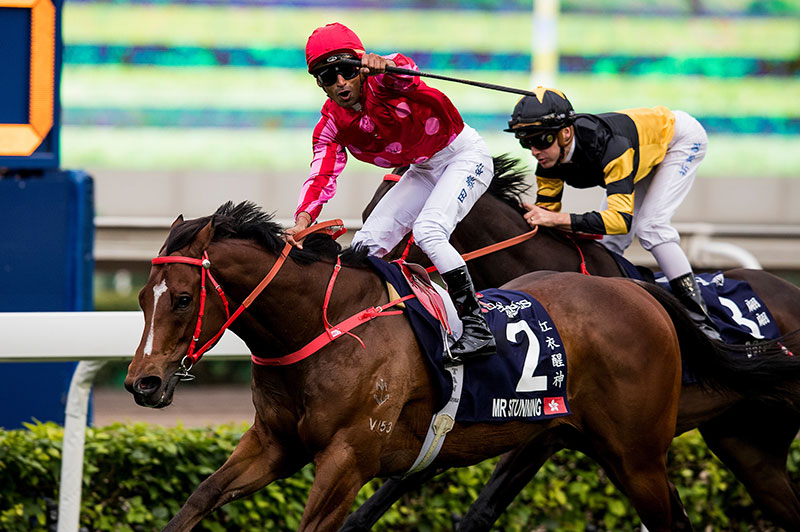 Mr Stunning wins the 2018 Hong Kong Sprint.