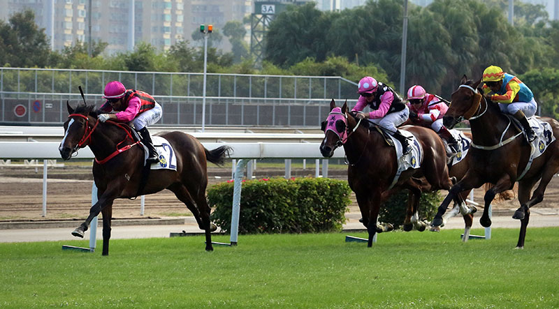 Waikuku zipped past Beauty Generation to win the Jockey Club Mile.