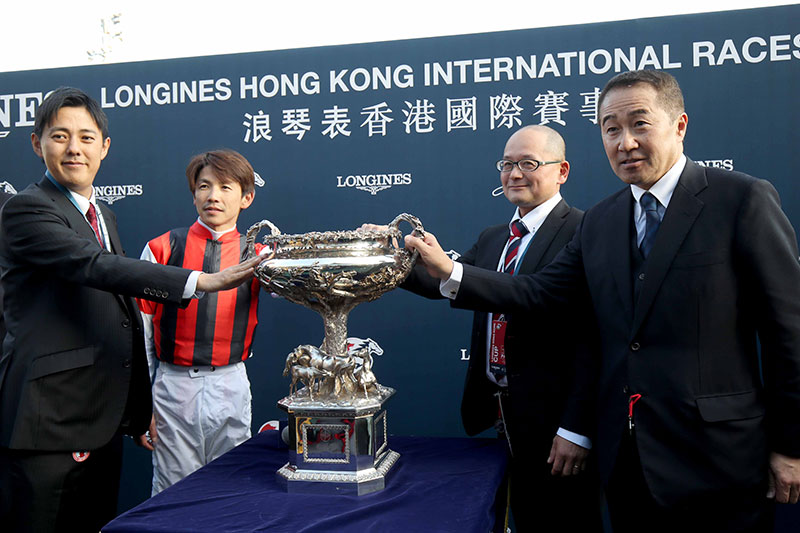 LONGINES Hong Kong Cup winning connections.