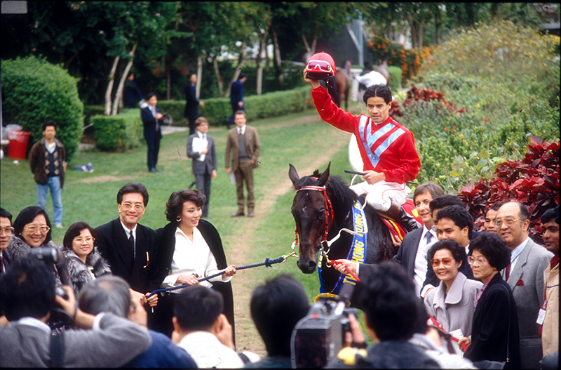 Cruz in his riding days after winning the 1989 Invitation Cup on Colonial Chief.