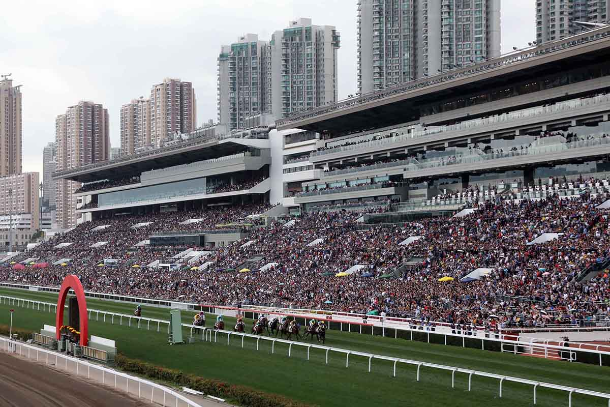農曆新年賽馬日吸引一眾市民入場觀看賽馬歡度新歲。