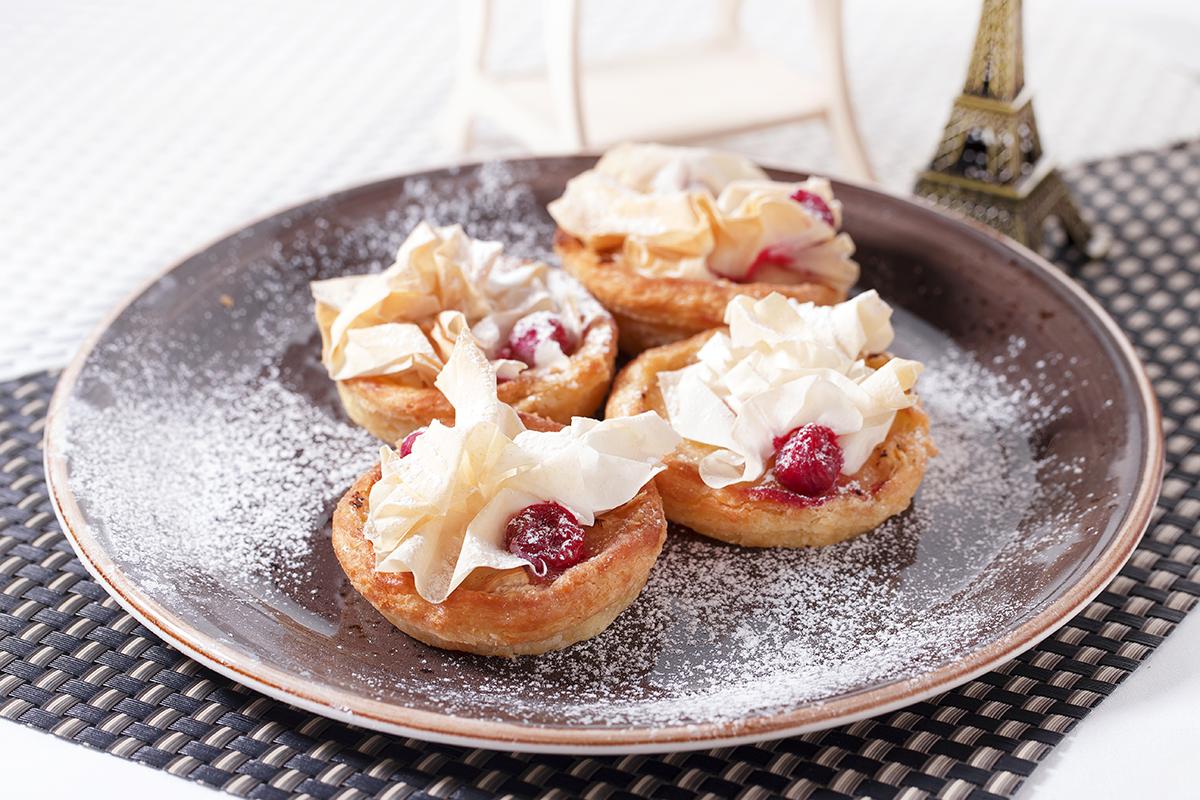 焗鴛鴦芝士紅莓撻