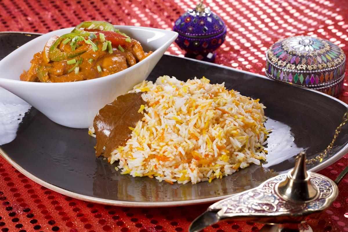 蕃茄咖哩雞、印度香料飯