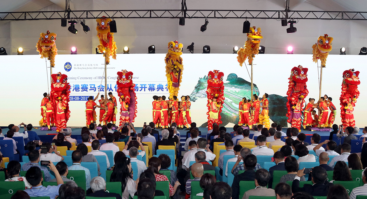 Lion dance performance at the opening ceremony.