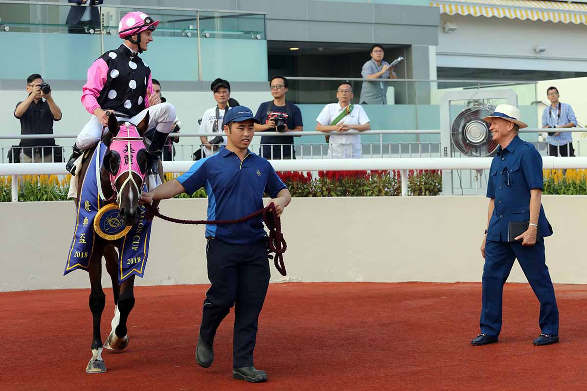 John Moore is pleased with Beauty Generation ahead of the BOCHK Jockey Club Mile.