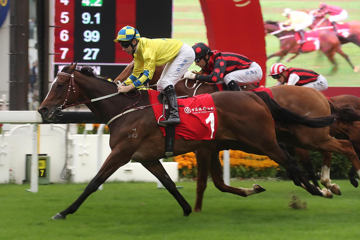 Werther seeks to win the BOCHK Jockey Club Cup again.