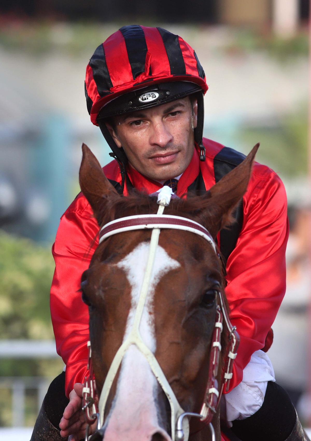 Winning jockey Silvestre de Sousa notches his Group race win in Hong Kong.