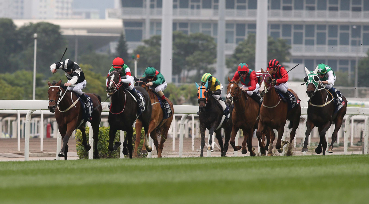Exultant (left) gives Hong Kong a third win in the Vase.