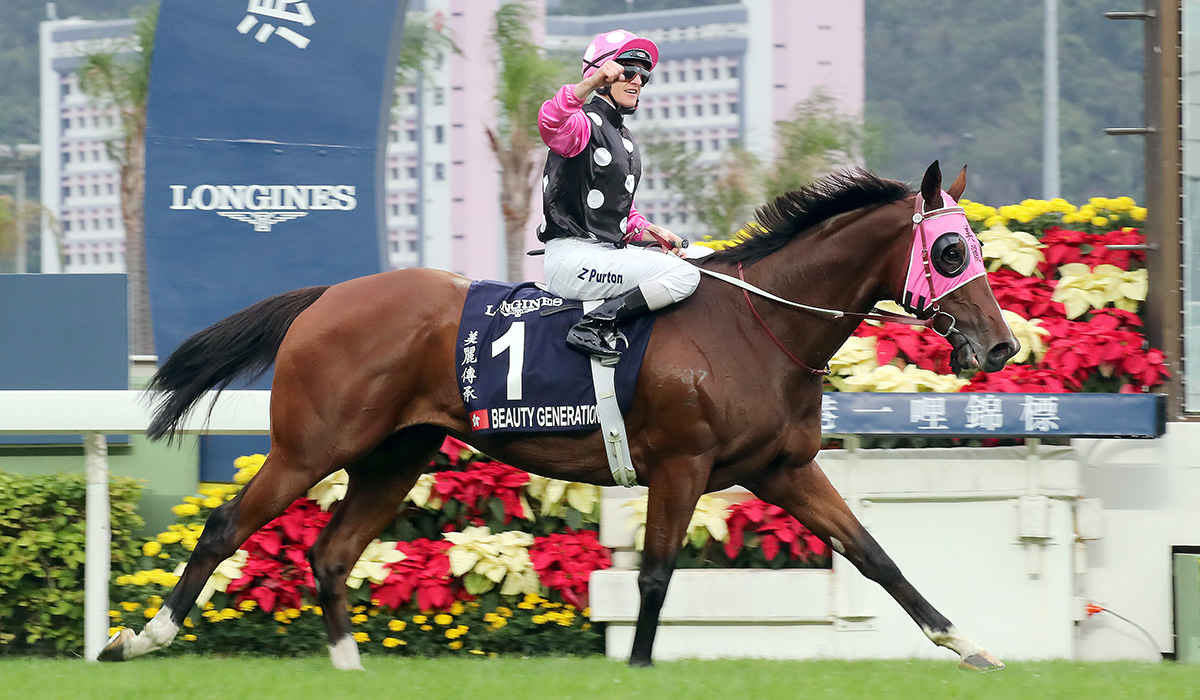 Zac Purton gets his eighth HKIR success.