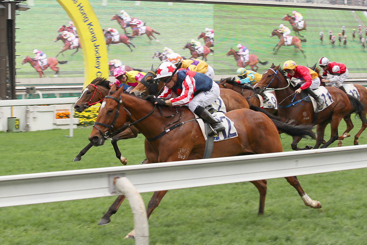 Refined Treasure returns from a break with an impressive sprint win.