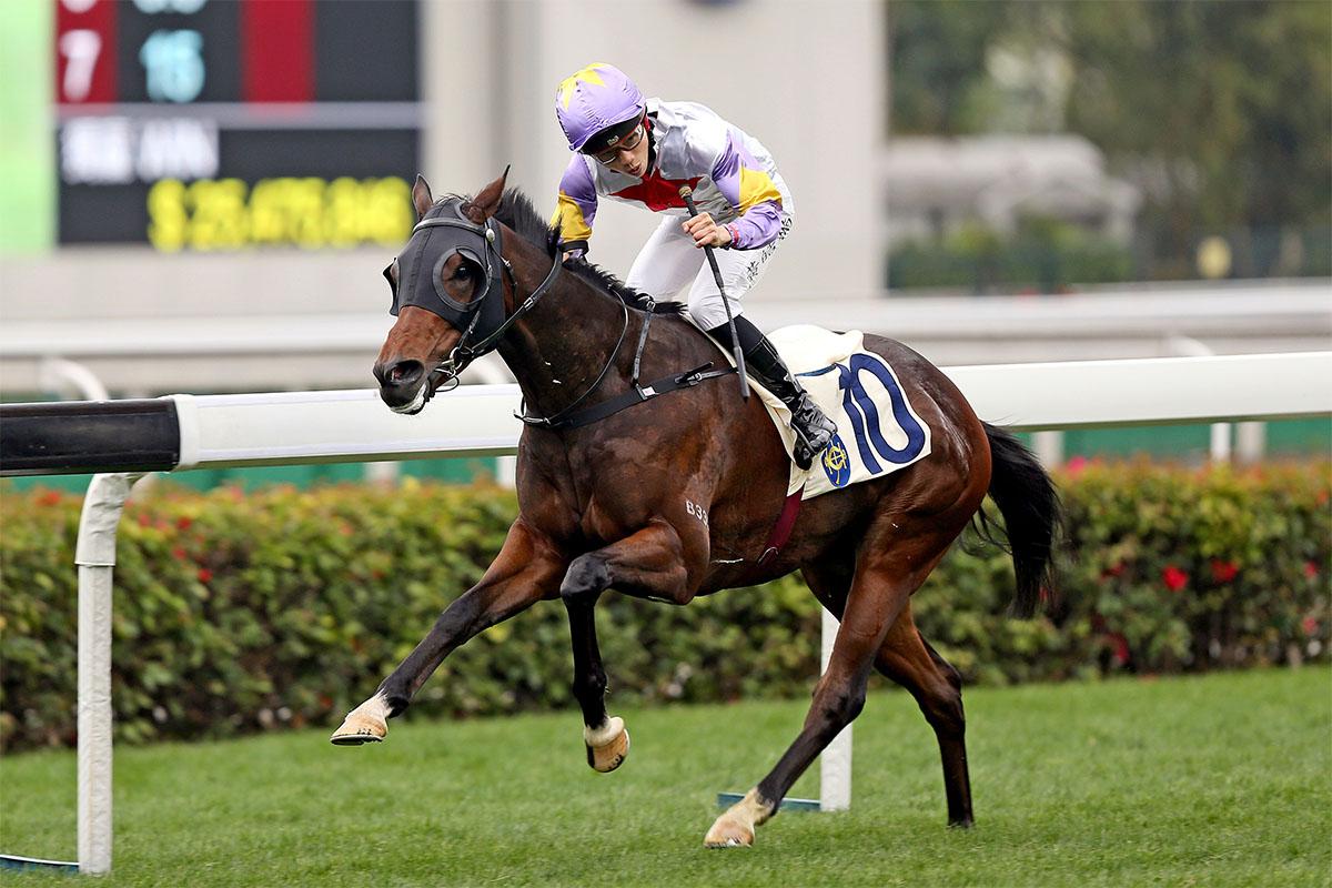 Jack Wong celebrates a long-odds success