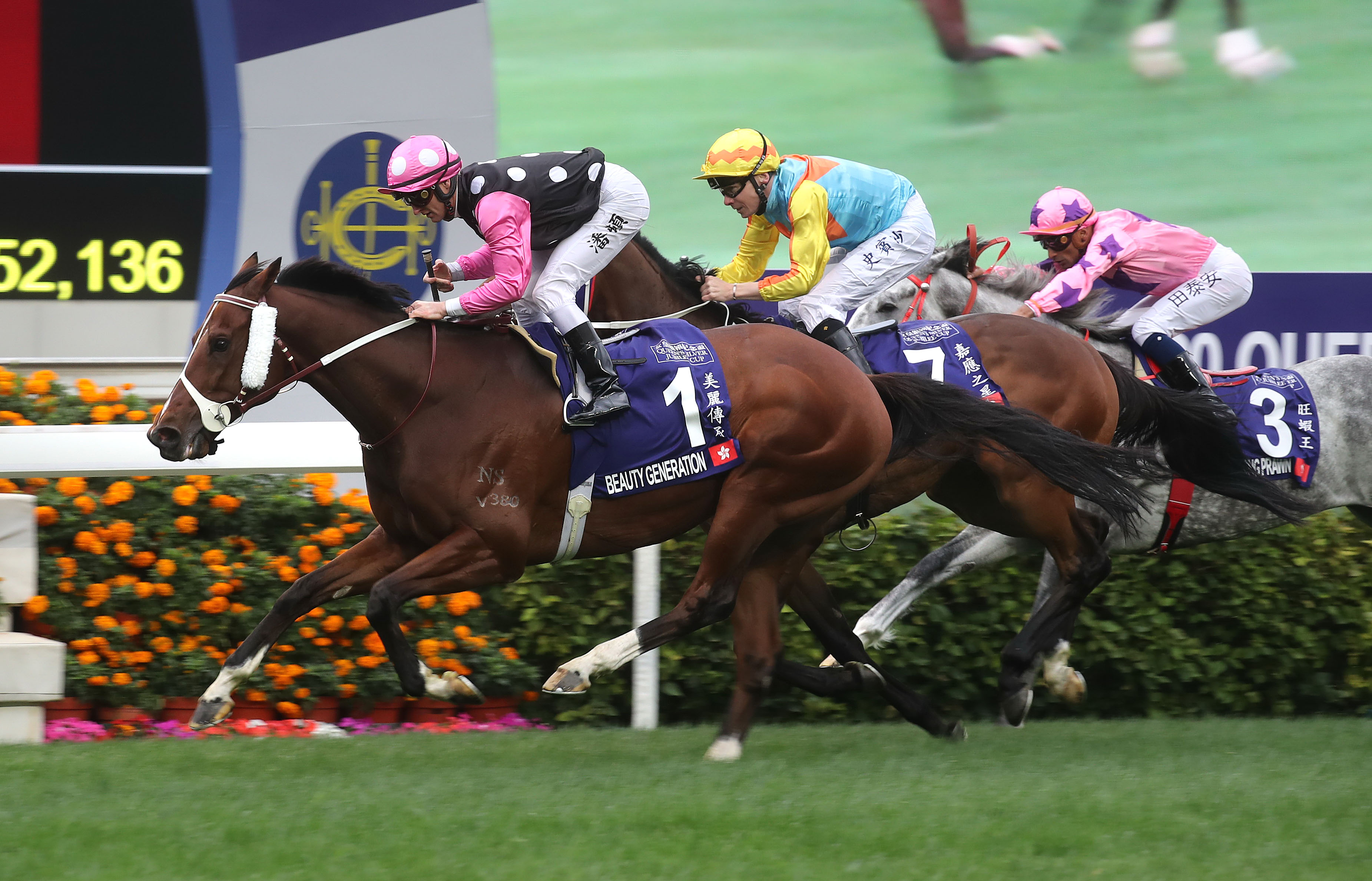 Hong Kong's two-time Horse of the Year becomes the first to win the race three times.