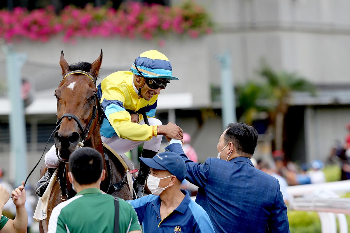 Michael Chang enjoys Righteous Doctrine's win