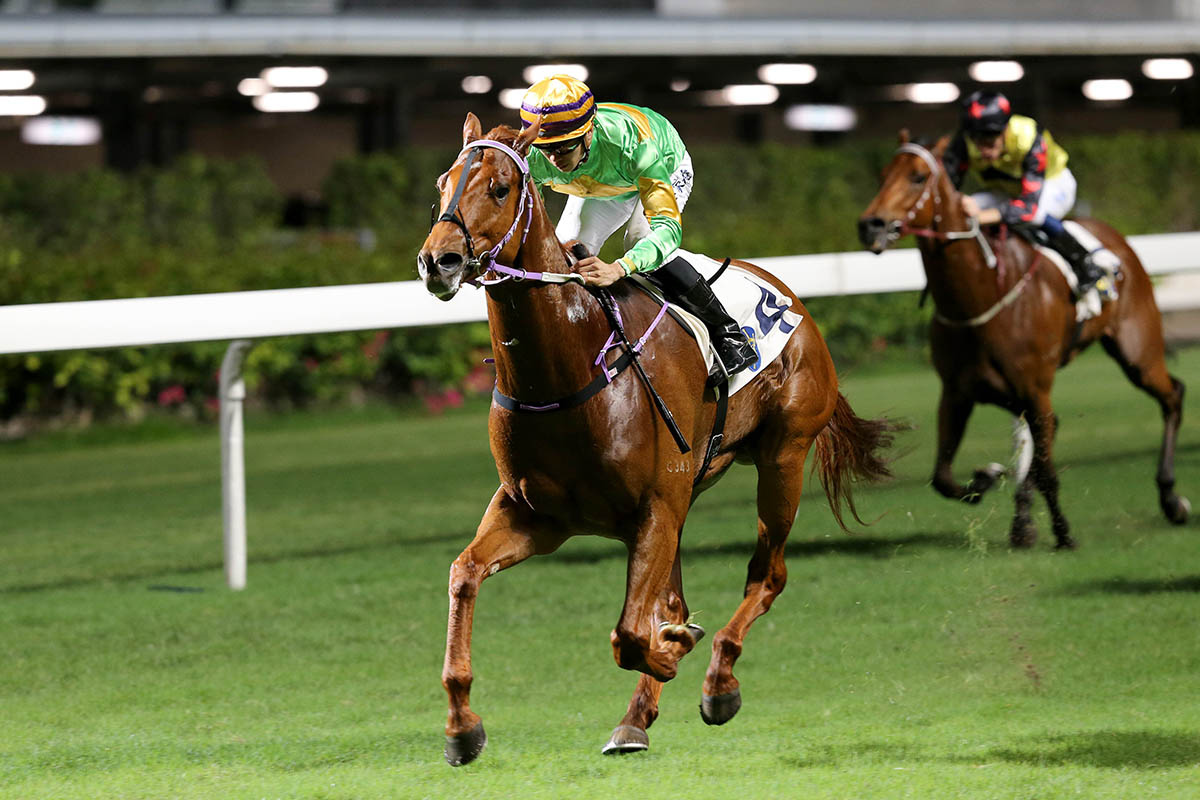 Classic Unicorn passes the post under Derek Leung well clear of his rivals.