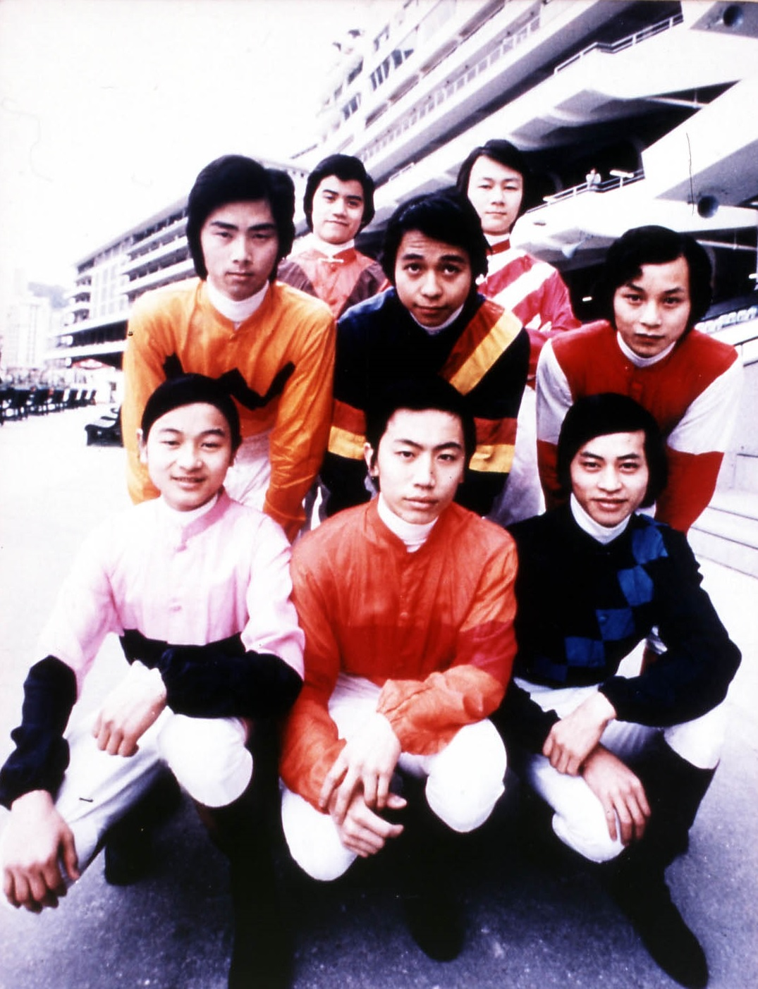 Ricky Yiu (front row, centre) was in the first intake at the apprentice jockeys' school.