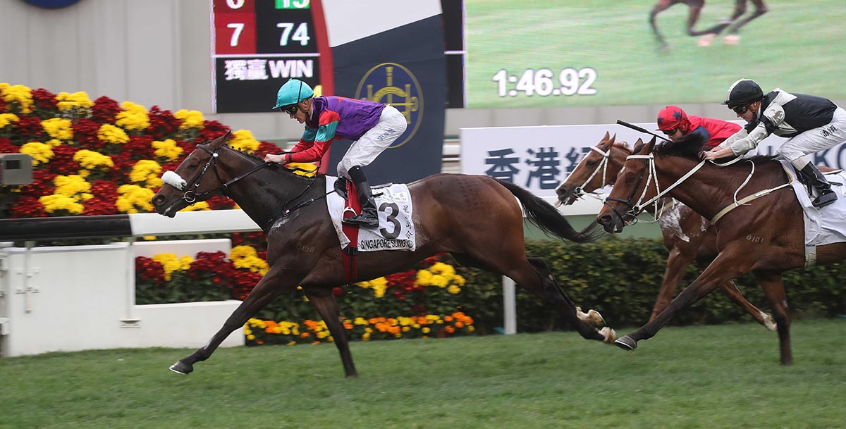Singapore Sling takes the 2018 Hong Kong Classic Cup.