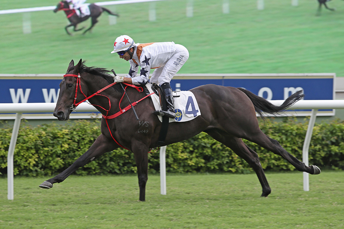 Courier Wonder cruises home under Joao Moreira.