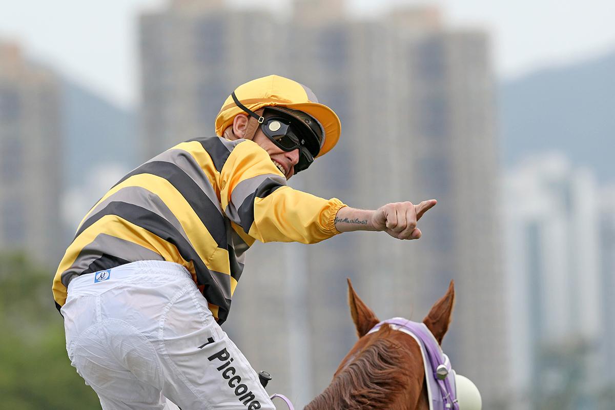 Tony Piccone celebrates the win.