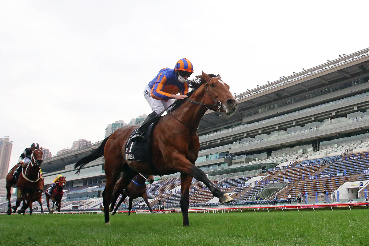 The Aidan O'Brien-trained Mogul with Ryan Moore in the saddle wins the G1 LONGINES Hong Kong Vase (2400m) at Sha Tin Racecourse today.