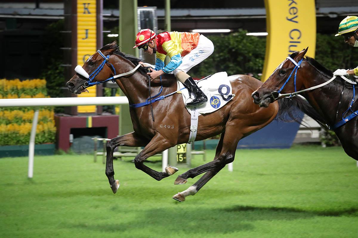 Luke Ferraris triumphs for the first time in Hong Kong.